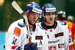 12.11.2010, Olympiahalle, Muenchen, GER, Deutschland Cup , Schweiz vs Slovakei, im Bild Lintner Richard (Slovakia #41) und Kokavec Michal (Slovakia #91)  , EXPA Pictures © 2010, PhotoCredit: EXPA/ nph/  Straubmeier+++++ ATTENTION - OUT OF GER +++++