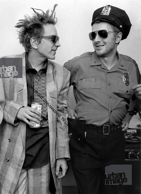 Big Audio Dynamite Medicine Show Video Shoot. with John Lydon and Strummer London 1986