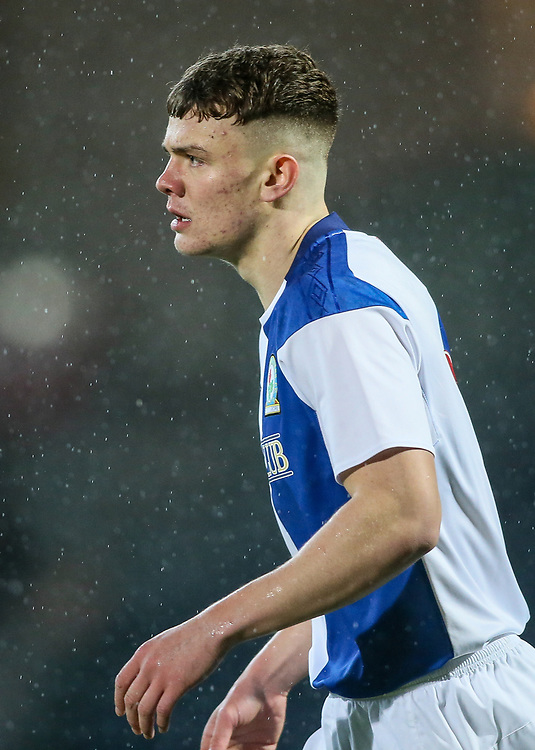 Blackburn Rovers U18s' Lewis Thompson <br /> <br /> Photographer Andrew Kearns/CameraSport<br /> <br /> FA Youth Cup Fourth Round - Blackburn Rovers U18s v Watford U18s - Wednesday 17th January 2018 - Ewood Park - Blackburn<br />  <br /> World Copyright © 2018 CameraSport. All rights reserved. 43 Linden Ave. Countesthorpe. Leicester. England. LE8 5PG - Tel: +44 (0) 116 277 4147 - admin@camerasport.com - www.camerasport.com