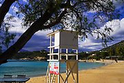 Lifeguard station on the beach at Chania, Crete, Greece
