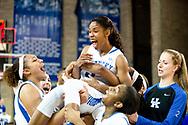 Janee Thompson.<br /> <br /> The University of Kentucky women's basketball team beat Missouri 69-59 in Lexington's Memorial Coliseum on Thursday, February 25, 2016.<br /> <br /> Photo by Elliott Hess   UK Athletics