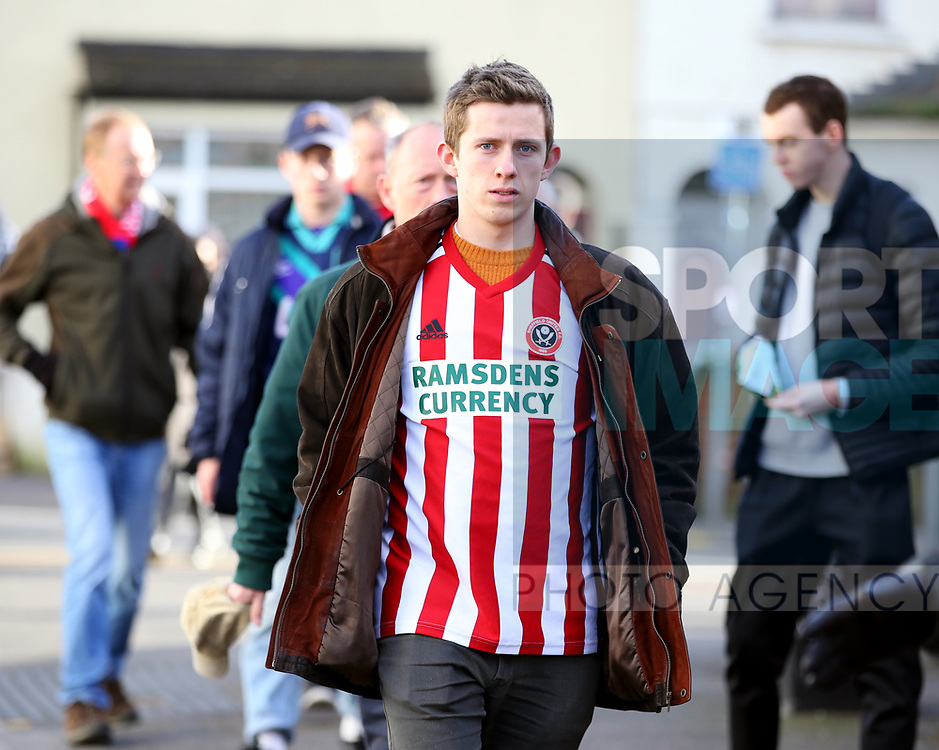 Sheffield Utd fan for fans feature during the Premier League match at Selhurst Park, London. Picture date: 1st February 2020. Picture credit should read: Paul Terry/Sportimage