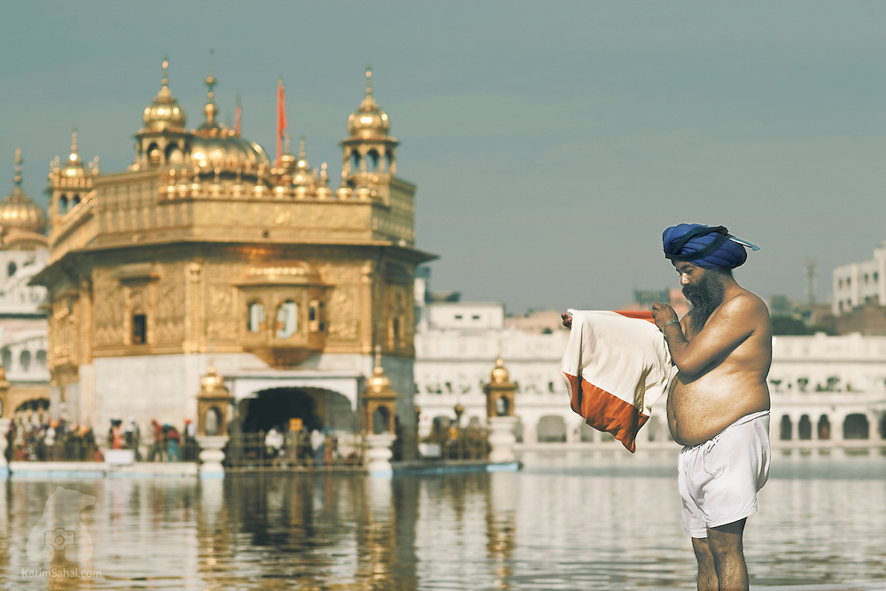 Sikh man near the Golden Temple in Amritsar, Punjab, India