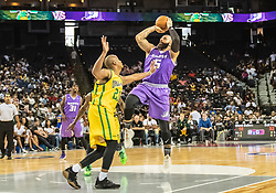 July 6, 2018 - Oakland, CA, U.S. - OAKLAND, CA - JULY 06:Carlos Boozer (5) co-captain of Ghost Ballers steps back for a basket during game 2 in week three of the BIG3 3-on-3 basketball league on Friday, July 6, 2018 at the Oracle Arena in Oakland, CA  (Photo by Douglas Stringer/Icon Sportswire) (Credit Image: © Douglas Stringer/Icon SMI via ZUMA Press)