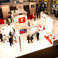 MILAN, ITALY - OCT. 21: Olivetti stand during SMAU, International Exhibition of Information and Communication Technology on October 20, 2010 in Milan, Italy.