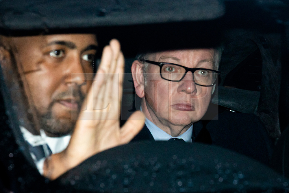 © Licensed to London News Pictures. 20/12/2019. London, UK. Chancellor of the Duchy of Lancaster Michael Gove leaves parliament after MPs voted to pass Boris Johnson's Withdrawal Agreement Bill. Photo credit: Rob Pinney/LNP