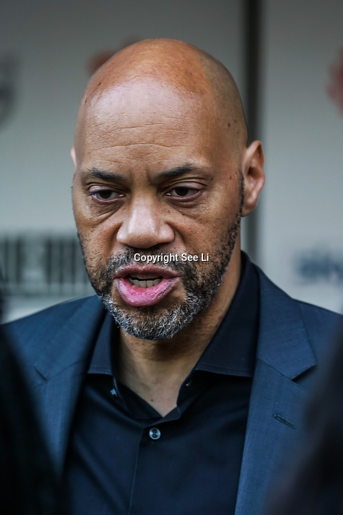 London,England,UK. 6th April, 2017. John Ridley attends the UK premiere of Sky Original Production Guerrilla at The Curzon,Bloomsbury,London,UK. by See Li