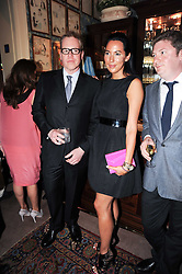 BRET EASTON ELLIS and ALEX MEYERS at a party to celebrate the publication of Imperial Bedrooms by Bret Easton Ellis held at Mark's Club, 46 Charles Street, London W1 on 15th July 2010.
