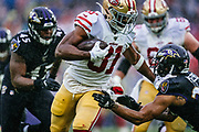 December 1, 2019. The Baltimore Ravens defeated the San Francisco 49ers at M&T Bank Stadium in a cold, rain-soaked, game, 20-17.