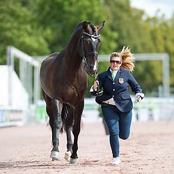 Susan Treabess, (USA), Kamiakin, - Horse Inspection Para Dressage - Alltech FEI World Equestrian Games™ 2014 - Normandy, France.<br /> © Hippo Foto Team - Jon Stroud<br /> 25/06/14