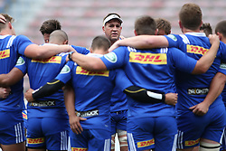 Chris Van Syl talks to the team during Western Province training session held at Newlands Rugby Stadium in Cape Town, South Africa on 15th September 2016.<br /> <br /> Photo by Shaun Roy/Real Time Images