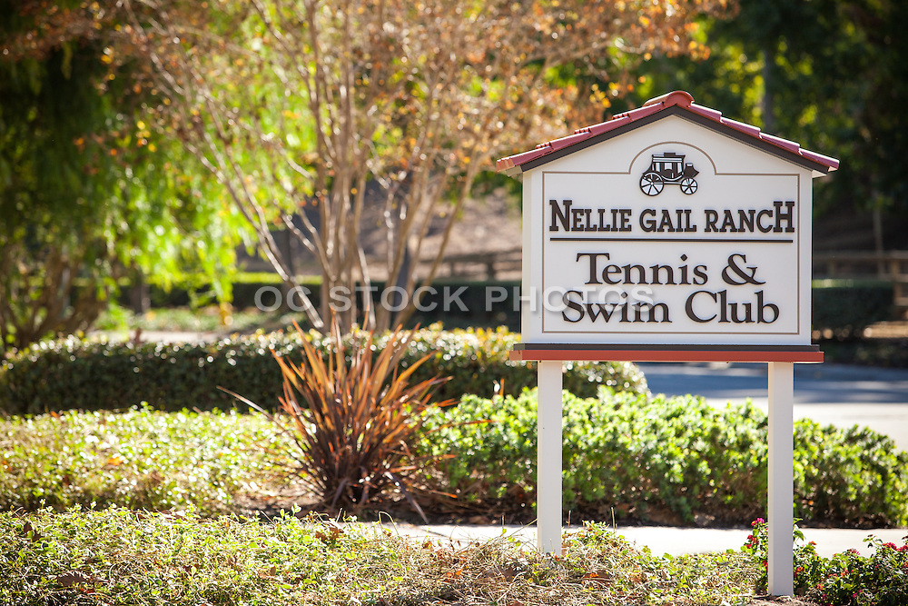 Nellie Gail Ranch Tennis & Swim Club Signage and Entrance
