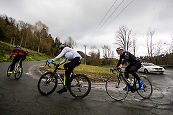 Riders in Crnivec during 3rd Stage from Soca to Prevalje, 230km at Day 3 of DOS 2021 Charity event - Dobrodelno okrog Slovenije, on April 29, 2021, in Slovenia. Photo by Vid Ponikvar / Sportida