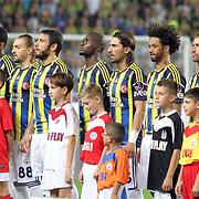 Fenerbahce's team group during their Turkish Superleague soccer derby match Fenerbahce between Besiktas at Sukru Saracaoglu stadium in Istanbul Turkey on Sunday 07 October 2012. Photo by TURKPIX