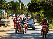 """15 FEBRUARY 2019 - SIHANOUKVILLE, CAMBODIA:  There are about 80 Chinese casinos and resort hotels open in Sihanoukville and dozens more under construction. The casinos are changing the city, once a sleepy port on Southeast Asia's """"backpacker trail"""" into a booming city. The change is coming with a cost though. Many Cambodian residents of Sihanoukville  have lost their homes to make way for the casinos and the jobs are going to Chinese workers, brought in to build casinos and work in the casinos.      PHOTO BY JACK KURTZ"""