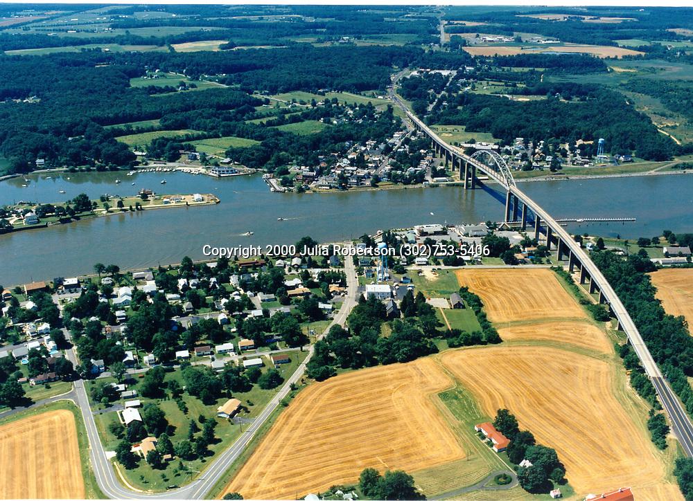 AErial photograph of Chesapeake City Maryland