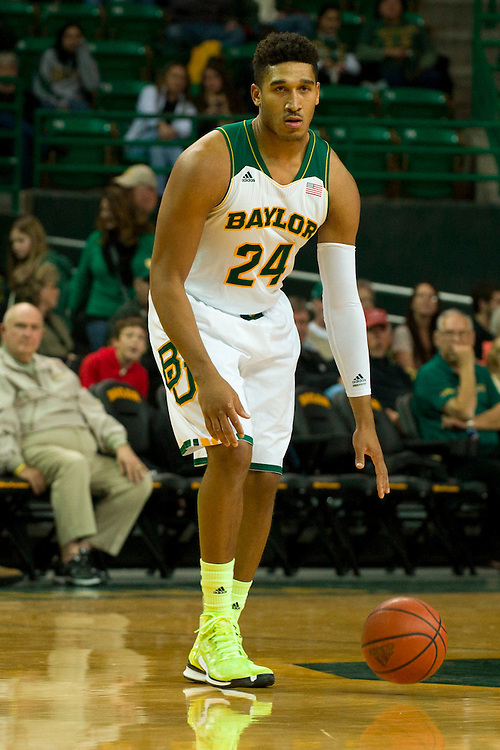 WACO, TX - JANUARY 3: Ish Wainright #24 of the Baylor Bears brings the ball up court against the Savannah State Tigers on January 3, 2014 at the Ferrell Center in Waco, Texas.  (Photo by Cooper Neill) *** Local Caption *** Ish Wainright