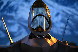 March 26, 2019 - Hill Air Force Base, Utah, U.S. - A pilot from the 388th Fighter Wings 421st Fighter Squadron prepares to launch an F-35A Lightning II during night flying operations at Hill Air Force Base, Utah, March 26, 2019. Night flying is required for pilots to sharpen their combat skills. The 388th Fighter Wing is the Air Forces first combat-coded F-35A wing. (U.S. Air Force photo by R. Nial Bradshaw) (Credit Image: ? U.S. Air Force/ZUMA Wire/ZUMAPRESS.com)