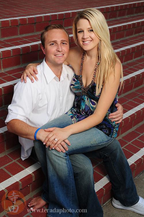 September 8, 2009; Moraga, CA, USA; Nicole Staubli (Flatley) and Jolon Staubli pose during their engagement-portrait photo shoot at Filippi Hall at Saint Mary's College of California. Mandatory Credit: Kyle Terada-Terada Photo