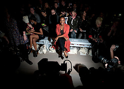 © Licensed to London News Pictures. 17/02/2012. London, UK. Singer Alexandra Burke on the front row at Felder Felder show by designer Annette Felder and Daniela Felder,  Autumn/Winter 2012 collection for London Fashion Week 2012 at Somerset House on February 17th, 2012. Photo credit : Ben Cawthra/LNP