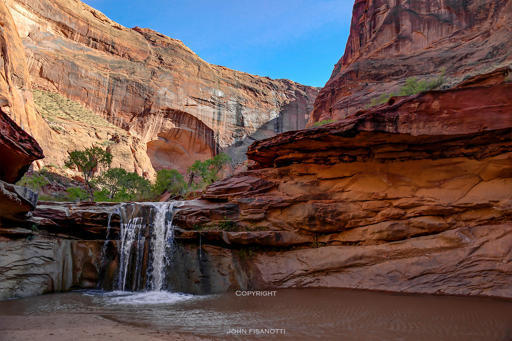 The Middle of Three Waterfalls in Coyote Gulch.