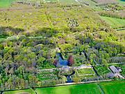 Nederland, Noord-Holland, Heiloo, 07-05-2021; Kennemerstraatweg, Heilooërbos met Huis Nijenburg. Landgoed Nijnenburg is een 18e-eeuwse buitenplaats.<br /> Kennemerstraatweg, Heiloo woods, with Huis Nijenburg. Landgoed Nijnenburg is an 18th-century country estate.<br /> <br /> luchtfoto (toeslag op standaard tarieven);<br /> aerial photo (additional fee required)<br /> copyright © 2021 foto/photo Siebe Swart
