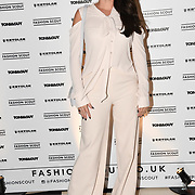 Candice Brown is the winner of the seventh series of The Great British Bake Off attend Fashion Scout - SS19 - London Fashion Week - Day 2, London, UK. 15 September 2018.