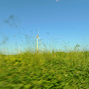 Ballywater Wind Farm, located between the villages of Kilmuckridge and Ballygarrett in County Wexford, Ireland.