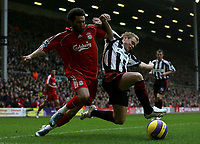 Photo: Paul Thomas.<br /> Liverpool v Sheffield United. The Barclays Premiership. 24/02/2007.<br /> <br /> Jermaine Pennant (L) of Liverpool tries to get by Derek Geary.