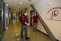 Huot Technical Center at Laconia High School.  Karen Bobotas for the Laconia Daily Sun