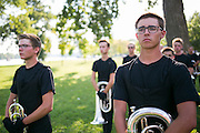 Shadow Drum and Bugle Corps performs in Dixon, Illinois on August 3, 2016. <br /> <br /> Beth Skogen Photography - www.bethskogen.com