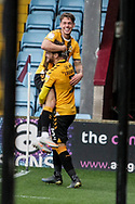 GOAL Cambridge United  3 Scunthorpe United 0 Luke Hannant and Jack Iredale celebrate the third during the EFL Sky Bet League 2 match between Scunthorpe United and Cambridge United at Glanford Park, Scunthorpe, England on 17 October 2020.