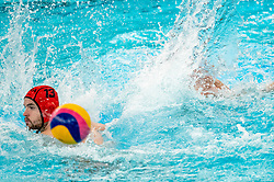 Kjeld Veenhuis of the Netherlands in action against Clement Duboisof France during the Olympic qualifying tournament. The Dutch water polo players are on the hunt for a starting ticket for the Olympic Games on February 17, 2021 in Rotterdam