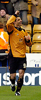 Photo: Leigh Quinnell.<br /> Wolverhampton Wanderers v Leeds United. Coca Cola Championship. 17/12/2005. Vio Ganea celebrates his goal for Wolves.