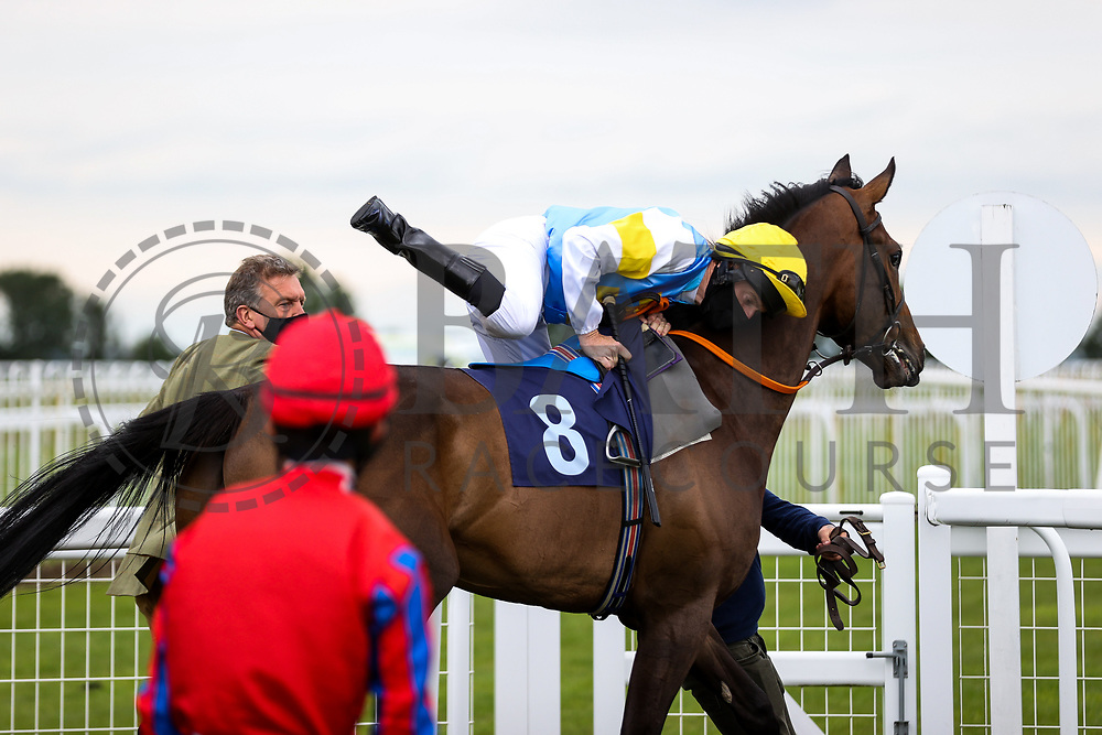 Call My Bluff ridden by Liam Keniry (T: Dominic Ffrench) ahead of the 16:10 Visit valuerater.co.uk For Free Handicap - Rogan/JMP - 14/07/2020 - HORSE RACING - Bath Racecourse - Bath, England.