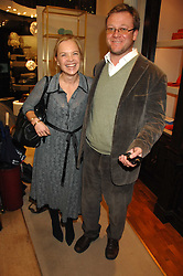 MARIELLA FROSTRUP and  JASON McCUE at a party to celebrate the launch of the book 'Long Way Down' by Ewan McGregor and Charley Boorman held at Smythson, 40 New Bond Street, London W1 on 19th November 2007,<br /><br />NON EXCLUSIVE - WORLD RIGHTS