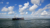 Hovercraft (The Island Express) approaching Ryde, Isle of Wight