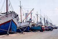 Java, East Java, Surabaya. Vessels in Kalimas harbor.