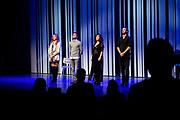 GOUD, 12-10-2020, Goudse Schouburg<br /> <br /> Premiere Off-Broadway musical Murder Ballad  in de Goudse Schouwburg in Gouda.<br /> <br /> Op de foto:  Cast met Cystine Carreon, Buddy Vedder, Vajèn van den Bosch en Jonathan Demoor