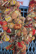 A holy tree decorated with coconuts, Rajasthan, India