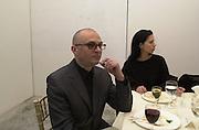 Gerwald  Rockenschaub and Michaela Eischeid. Victoria Miro Gallery Inaugural lunch in aid of Thomas Demand and Gerwald Rockenschaub. N1. London. 26 November 2000. © Copyright Photograph by Dafydd Jones 66 Stockwell Park Rd. London SW9 0DA Tel 020 7733 0108 www.dafjones.com