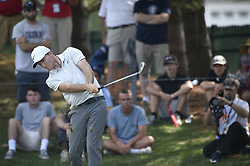 June 24, 2018 - Cromwell, CT, USA - Russell Henley hits his tee shot on the 8th hole during the final round of the Travelers Championship at TPC River Highlands in Cromwell, Conn., on Sunday, June 24, 2018. (Credit Image: © John Woike/TNS via ZUMA Wire)