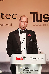 The Duke of Cambridge speaks during the Tusk Conservation Awards at Banqueting House, London.