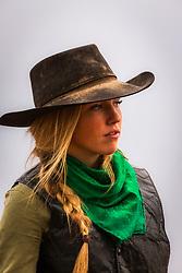 Idaho Cowgirl Lydia Moss a working cowgirl from Hamer Idaho.