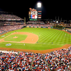 View of phillies game behind second base at citizens bank park