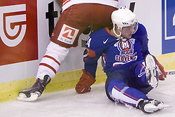 Jan Mursak of Slovenia  at ice-hockey friendly match between National teams of Slovenia and Denmark, on April 14, 2010, in Tivoli hall, Ljubljana, Slovenia. Denmark defeated Slovenia 5-3. (Photo by Vid Ponikvar / Sportida)