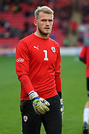 Charlton Athletic goalkeeper Dillon Phillips (1) in warm up  during the EFL Sky Bet League 1 match between Barnsley and Charlton Athletic at Oakwell, Barnsley, England on 29 December 2018.