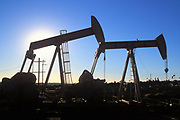 Inglewood Oil Field is the largest urban oil field in the country, Baldwin Hills, Los Angeles, California