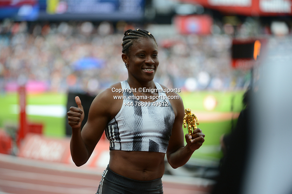 *** during the IAAF Diamond League at the Queen Elizabeth Olympic Park London, England on 20 July 2019.