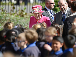 © Licensed to London News Pictures. 20/04/2016. QUEEN ELIZABETH II arrives to officially open the new bandstand at Alexandra Gardens in Windosr on the eve of her 90th birthday. Photo credit: Hannah McKay/LNP